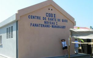 Construction d'un centre de santé à Madagascar